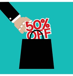 50 Percent Off vector