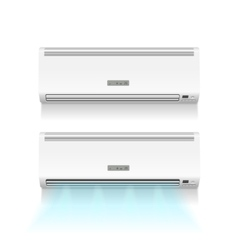Air conditioner isolated on white photo-realistic vector image