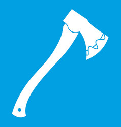axe in blood icon white vector image