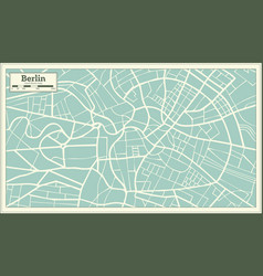 Berlin germany map in retro style vector