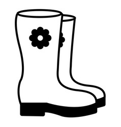 Boots icon outline style vector