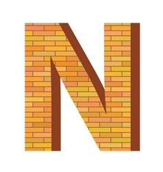 brick letter N vector image