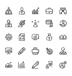 business doodle icons 1 vector image