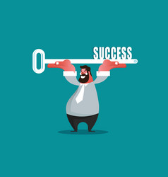 business success concept vector image