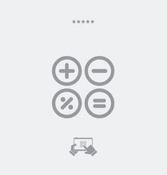 calculator application flat icon vector image