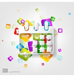 Calendar icon Application buttonSocial media vector image