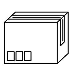 carton box icon outline style vector image