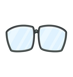 cartoon glasses design isolated on white vector image
