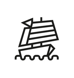 Chinese ship icon on white background vector