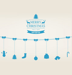 christmas greeting card with merry christmas and vector image