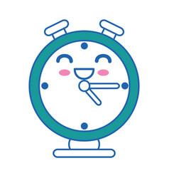 Clock kawaii cartoon vector