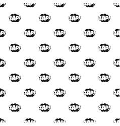 comic boom zap pattern seamless vector image
