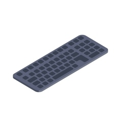Computer keyboard isometric flat icon vector