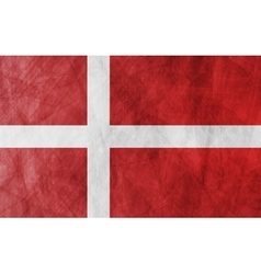 Danish grunge flag background vector image