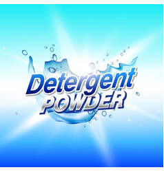 Detergent powder cleaning product packaging vector