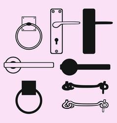door handles door knob vector image