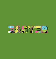 easter concept word art vector image