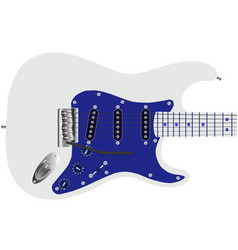 Electric guitar in blue vector