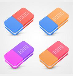 Eraser set color vector