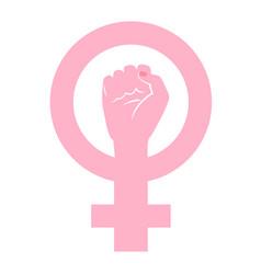 Feminist wrist sign vector