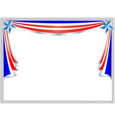 festive patriotic american flag frame vector image