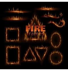 Fire frames vector image
