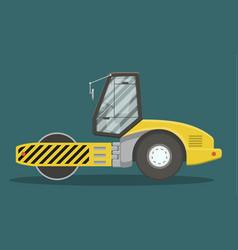 Flat asphalt compactor vector