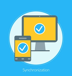 Flat design concept for Synchronization for vector image
