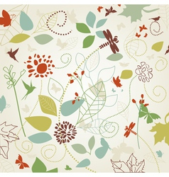 Flowers in the spring vector