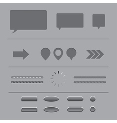 Forms and elements vector