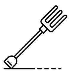 Garden fork icon outline style vector