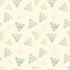 Geometric pattern of hexagon triangle vector image
