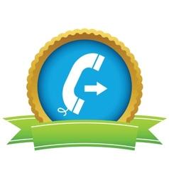 Gold outgoing call logo vector