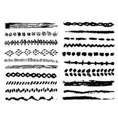 Grunge brushes set vector