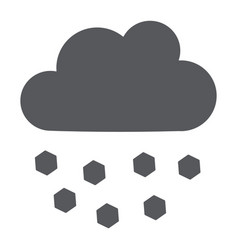 Hail glyph icon weather and meteorology cloud vector