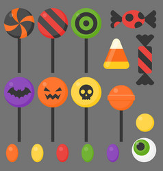 Halloween candy flat design icon vector