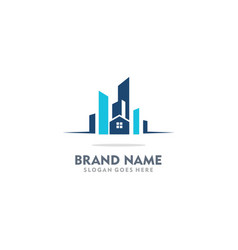 Home realty building company logo vector