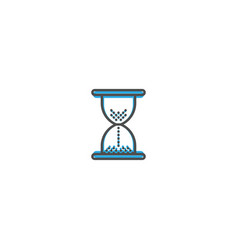 hourglass icon design essential icon vector image