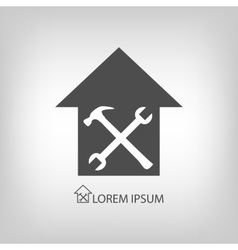 House repair symbol vector image