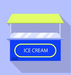 Ice cream kiosk icon flat style vector