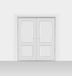 Interior doors hinged bivalve swings door vector