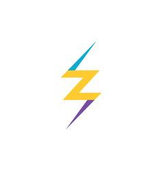 letter z thunder icon logo symbol element vector image