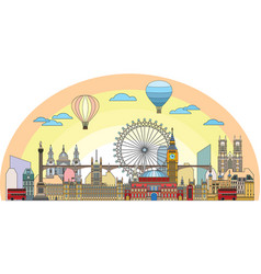 london colorful line art 3 vector image