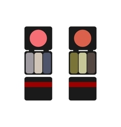 makeup colored blush and eyeshadow flat vector image