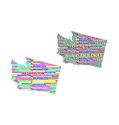 map of washington state vector image