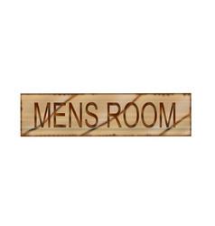 Mens room sign vector