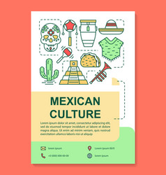 Mexican culture brochure template layout mexico vector