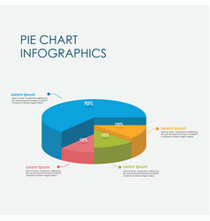 Pie chart circle infographics elements 3d vector