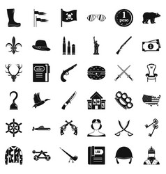 Pipe icons set simple style vector