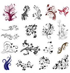 plant patterns vector image
